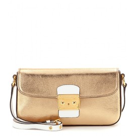 miu miu - METALLIC-LEATHER SHOULDER BAG