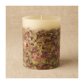 Rosy Rings - Botanical Round Candle
