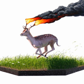 Josh Keyes - Entangle III