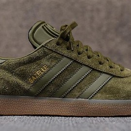 adidas originals - Gazelle - Green Suede