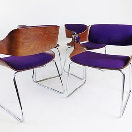 Eugen Schmidt - Eugen Schmidt set of 4 dining chairs 60s