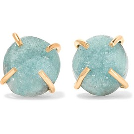 Melissa Joy Manning - 14-karat gold druzy earrings