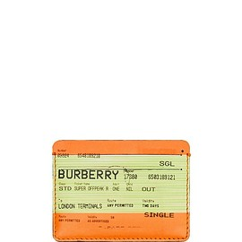 Burberry - Train Ticket Print Leather Card Case