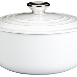 Le Creuset - 5 1/2 Quart Round French Ovens: WHITE