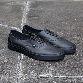 VANS - Premium Leather Authentic Decon - Black/Black