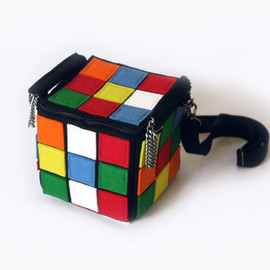 krukrustudio - Felt Rubiks Cube Multicolor Bag