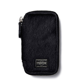 "HEAD PORTER - ""NOMA"" ZIP KEY CASE BLACK"