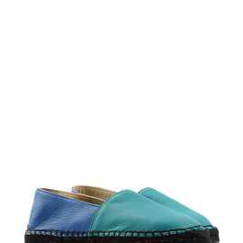 Lika Mimika Leather Espadrilles - Curly Grey