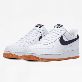 NIKE - Air Force 1 Low - White/Navy/Gum