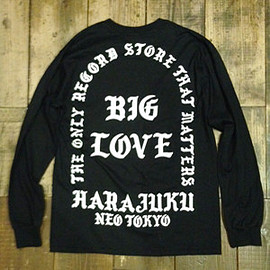 BIG LOVE - THE ONLY RECORD STORE LONG T-SHIRT BLACK