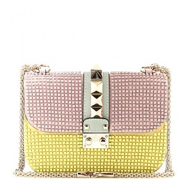 VALENTINO - Lock Small embellished leather shoulder bag