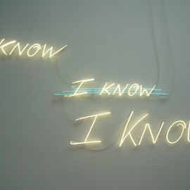 Tracy Emin - I KNOW ×I KNOW× I KNOW
