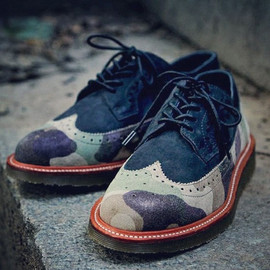 Ronnie Fieg × Dr. Martens - Camo Wingtip Brogue Shoes