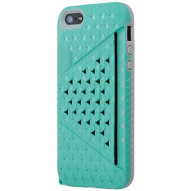 Bluevision - Bluevision iPhone 5用ケース Kaleido Card Slot Case for iPhone 5s/5 Peacock Green