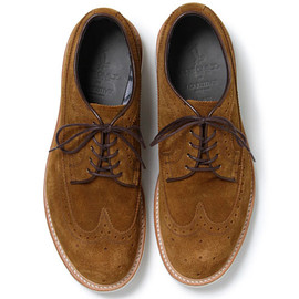 nonnative - DWELLER SHOES WINGTIP COW SUEDE WITH GORE-TEX® 2L by REGAL