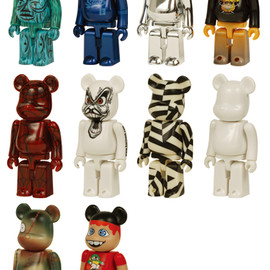 MEDICOM TOY - BE@RBRICK WORLD WIDE TOUR 2005 10PC SET