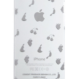 "CEMENT PRODUCE DESIGN, iTattoo - ""Queen of Fruits"" for iPhone5/5s White & Silver"