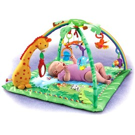 Fisher Price - Rainforest Melodies & Lights Deluxe Baby Gym