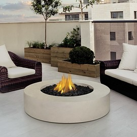 modern  fire place - Furniture. Enthralling Outdoor Living Space Design Exterior Introducing Round Gas Fire Pit