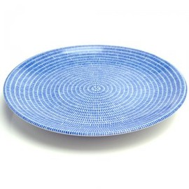 Oma glass plate/ blueberry blue/Harri Koskinen