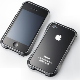 Deff - Deff 【iPhone4/4S対応バンパー】 CLEAVE ALUMINUM BUMPER グラファイト DCB-IP40A6GR