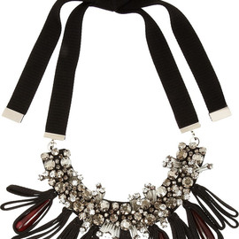 MARNI - Crystal and horn necklace