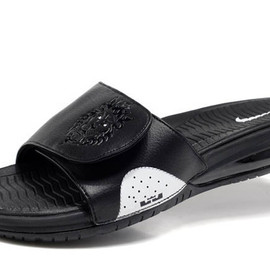 """Men Size Air Lebron Slides with """"All Black/White"""" Colors - Nike Shoes"""