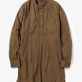 Engineered Garments - Banded Long Collar Shirt - Brushed Twill