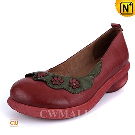 cwmalls - CWMALLS Floral Leather Loafers CW306006
