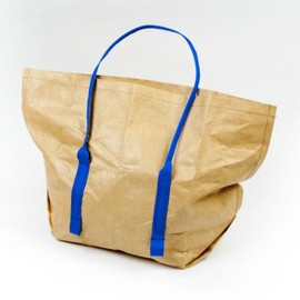 Mimot - Reusable tote (Brown w/ Blue) リユーザブル トートエコバッグ