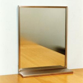 PACIFIC FURNITURE SERVICE - STAINLESS STEEL FLAME MIRROR 棚付き