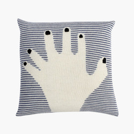 LuckyBoySunday - fancy finger pillow / dark blue