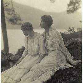 Two Women Under a Tree  photo by Alice M. Boughton, ~ 1910