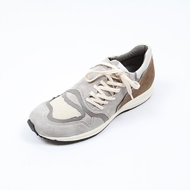 foot the coacher, TAKAHIROMIYASHITATheSoloIst. - F.A.S.t side lace - Gray / Beige