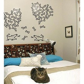 wallstickerdeal - Dog Looking For Lover Wall Stickers