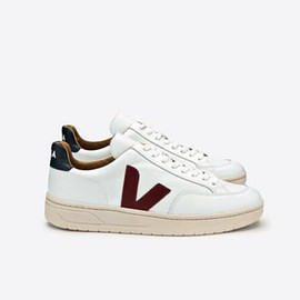 Veja - V-12 Leather White Marsala Nautico Ladies Trainers