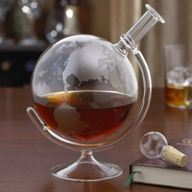 Wine Enthusiast - Etched Globe Spirits Decanter