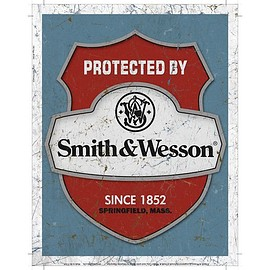 Product: Protected by Smith & Wesson Tin Sign