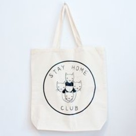 stay home with cats club tote