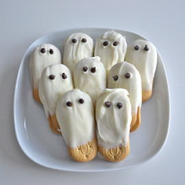 Cutest Wedding - White Chocolate Ghost Cookies 2 Dozen