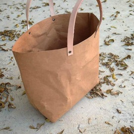 Belltastudio - Kraft fabric paper tote bag small lunch