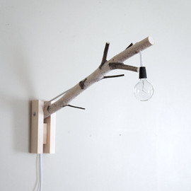 urbanplusforest - exposed bulb woodland wall/desk lamp