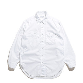 ENGINEERED GARMENTS - Work Shirt-Superfine Poplin-White