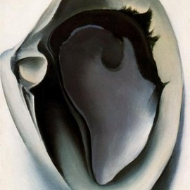 Georgia O'Keeffe - Clam and mussel, oil on canvas