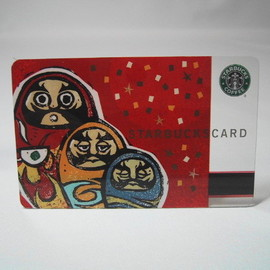 starbucks coffee Japan - starbucks card だるま /2002