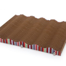 Wave Lounge  - Eco-friendly Cardboard Cat Scratcher and Lounge (Tutti Frutti)