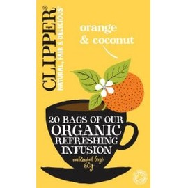 Clipper - ogange & coconut tea 20bags