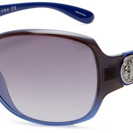 MARC BY MARC JACOBS - MMJ165 Sunglasses (Gray Blue Frame/Gray Gradient Lens)