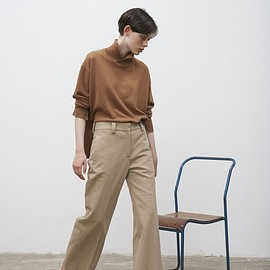 Studio Nicholson - Point Crease Front Slack In Camel