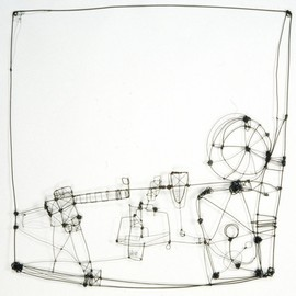 Barbara Gilhooly - Wire Drawing 3, 2006, annealed steel wire